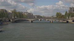 Paris Seine landscape 2 Stock Footage