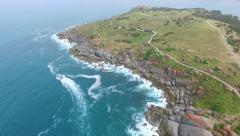 Boat Charter around Granite Island Australia Stock Footage