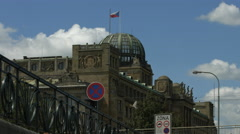 The dome of Czech Ministry of Industry and Trade in Prague Stock Footage