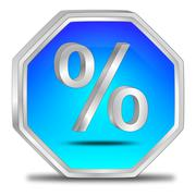 Discount button with percent symbol Stock Illustration