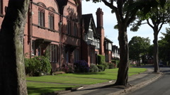 Arts and Crafts Houses, Port Sunlight, Wirral, England - stock footage
