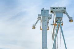 Crane for shipyard Stock Photos