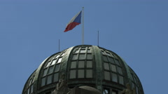 Czech Ministry of Industry and Trade Dome in Prague Stock Footage