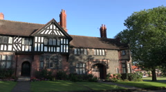 Bridge Cottage, Arts and Crafts House in Port Sunlight, Wirral, England - stock footage
