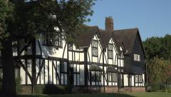 Arts and Crafts Houses in Port Sunlight, Wirral, England - stock footage