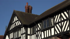 Arts and Crafts style house in Port Sunlight, Wirral, England Stock Footage