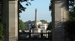 Hillsborough Memorial Garden and War Memorial, Port Sunlight, Wirral, England - stock footage
