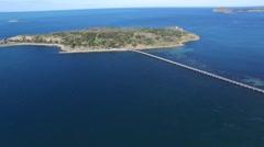 Aerial Granite Island Victor Harbor Stock Footage
