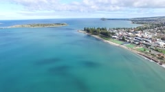 Aerial View Granite Island Victor Harbor Stock Footage