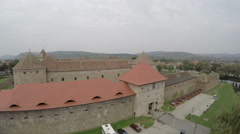 Fagaras Fortress's entrance seen from above Stock Footage