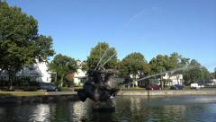 Ornamental fountain, Port Sunlight, England - stock footage