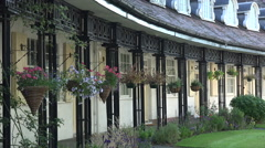 Arts and Crafts terraced houses in Port Sunlight, Wirral, England Stock Footage