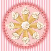 Illustration of soft serve ice cream cone Stock Illustration