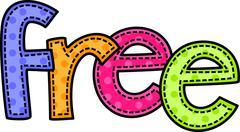 Free Stitch Text Stock Illustration