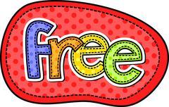 Free Stitch Text Label Stock Illustration