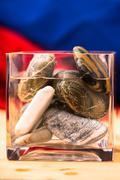 glass beaker - stock photo