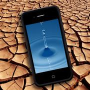 Drinking water - Drought - smartphone Stock Photos