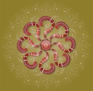 Brown ornament. Stock Illustration