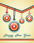 Retro greeting card. Stock Illustration
