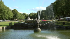 Ornamental fountain, Port Sunlight, Wirral, England - stock footage