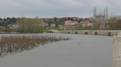 Flooding in the city of Edirne, Turkey Stock Footage