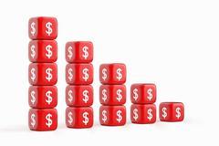 Decline Dollar Chart Stock Illustration