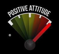 Positive attitude meter sign concept illustration Stock Illustration