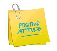 Positive attitude memo post sign concept - stock illustration