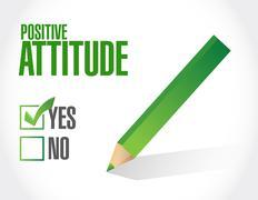 Positive attitude sign concept - stock illustration