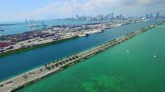 Travel Miami port Stock Footage