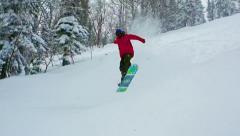 Freeride Jump Stock Footage