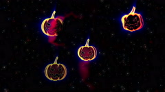 Halloween Jack o Lantern Vj Loop 4 - stock footage