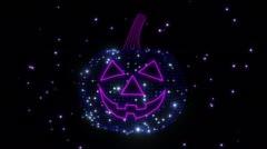 Disco Halloween Jack Lantern 4K Vj Loop  2 Stock Footage