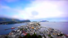 Alesund Coast and Islands. Tilt Shift Timelapse - stock footage