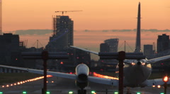 London City Airport Stock Footage