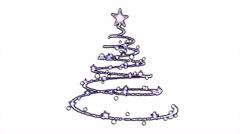 Rotating Christmas Tree Animation - Loop Purple - stock footage