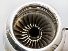 Jet Engine Turbine on a Private Jet Plane Kuvituskuvat