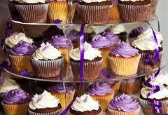 Wedding Cake - Bunch of Yummy Colorful Cupcakes Stock Photos