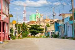 SANTA CLARA, CUBA - SEPTEMBER 08, 2015:View, downtown in the capital city of Stock Photos