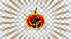 Bright Halloween Pumpkin Vj Loop 4K 14 Stock Footage