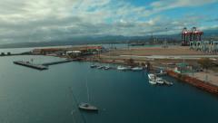 Pier at La guancha Ponce, Puerto Rico Stock Footage