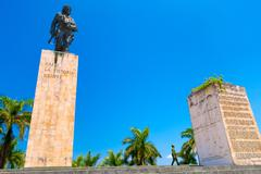 SANTA CLARA, CUBA - SEPTEMBER 08, 2015: The Che Guevara Mausoleum in Santa Clara Stock Photos