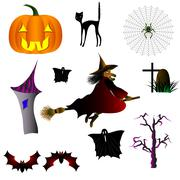 Halloween is a holiday of All Saints - stock illustration