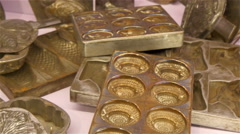 Stock Video Footage of Gold coins and gold objects on the table