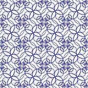Stock Illustration of seamless pattern of beautiful blue curly lines