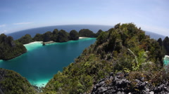 Limestone Islands of Raja Ampat Stock Footage