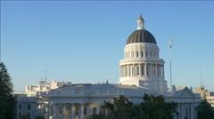 Stock Video Footage of California capitol building, Sacramento (pan)