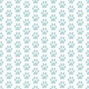 Stock Illustration of Green and White Dog Paw Prints Tile Pattern Repeat Background