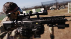 Tactical paintball game Stock Footage