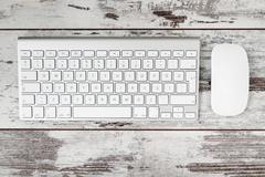 Wireless Modern Computer Keyboard with the Turkish Alphabet and Mouse Stock Photos